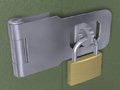 Hasp and Padlock Set